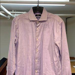 Hugo Boss Shirts - Hugo Boss Slim Fit Purple Dress Shirt